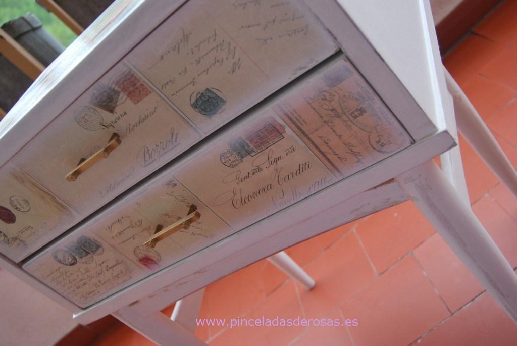 T cnica de decoupage for Decoupage con servilletas en muebles